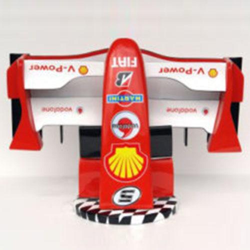 Avant-F1-Ferrari-socle-résine-nlcdeco formule 1