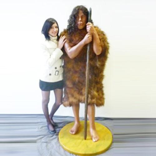 Homme-des-cavernes nlc déco deco resine prehistoire