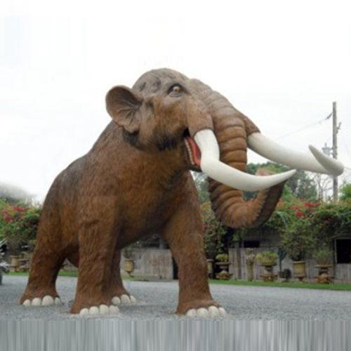 Mammouth-grandeur-nature nlc déco deco dinosaure resine