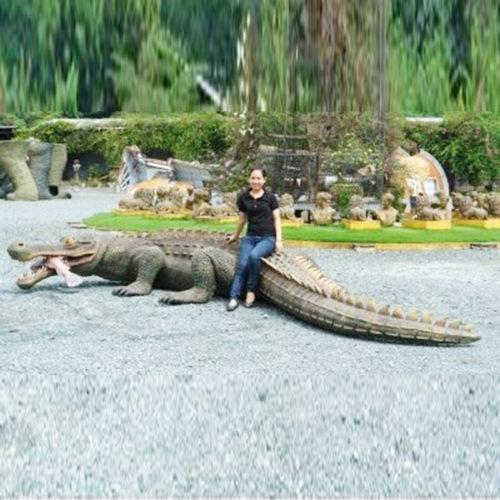 Sarcosuchus dinosaure crocodile geant nlc deco déco resine