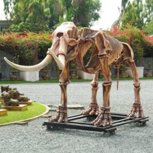Squelette-de-Mammouth dinosaure resine animaux prehistorique nlc déco deco