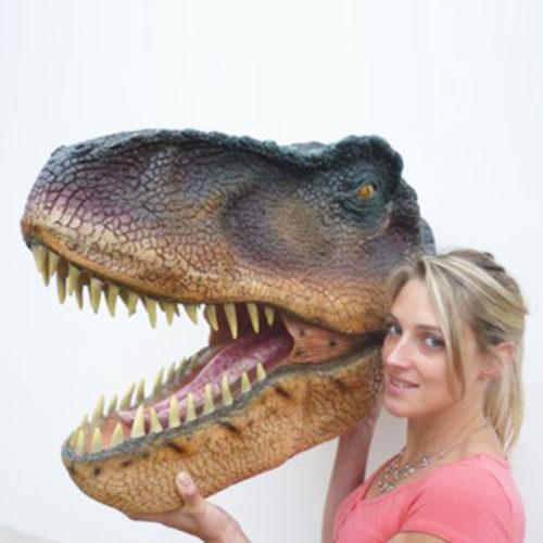 Tête-de-T-Rex dinosaure nlc déco deco resine