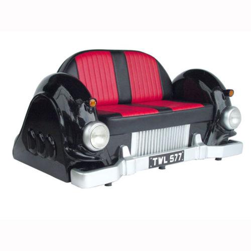 2022-B Sofa car noir rouge