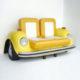 Banquette-Coccinelle-jaune-voiture decoration nlcdeco
