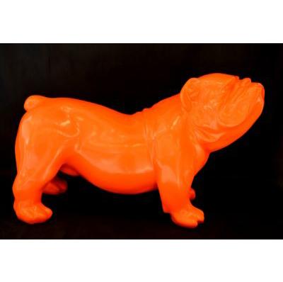 bouledogue anglais orange nlc d co animaux et statues en r sine. Black Bedroom Furniture Sets. Home Design Ideas