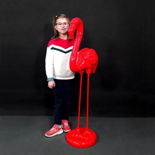 Flamant couleur rouge décor design nlcdeco
