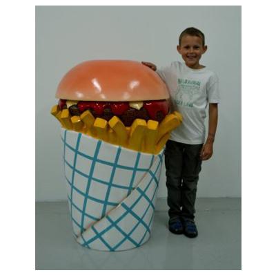 Hamburger poubelle