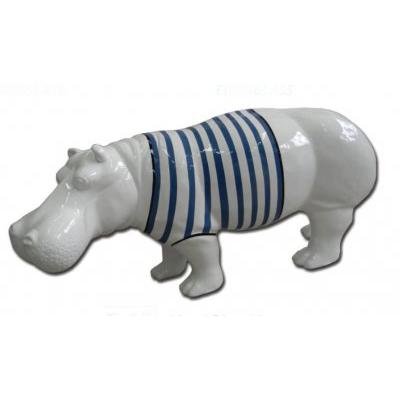Hippopotame marinière bleue