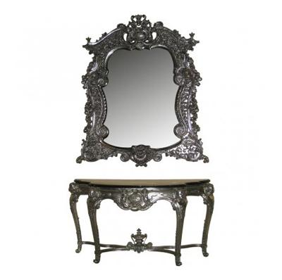 Miroir Auguste argent
