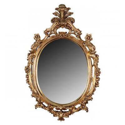 Miroir ovale or
