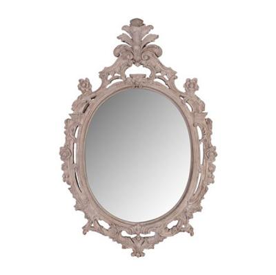 Miroir ovale pierre