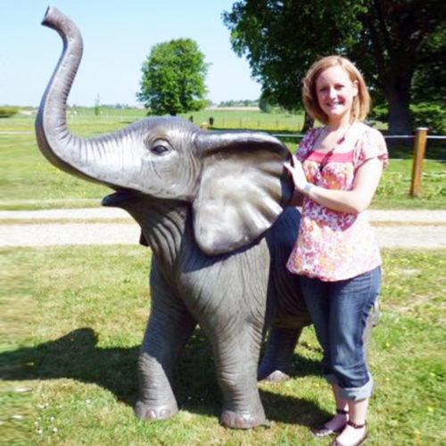 Éléphant-résine-trompe elephant resine animaux resine nlcdeco décoration deco
