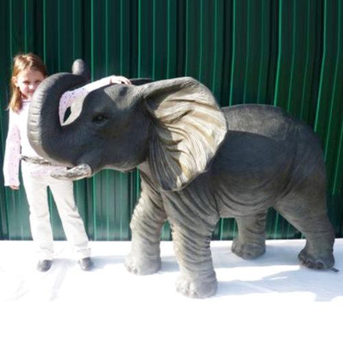 Éléphant-trompe-sur-tête animaux en résine décor nlc déco nlcdeco