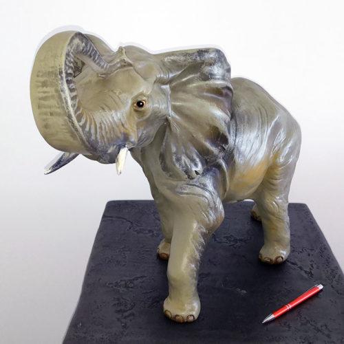 AEMA421 elephant petit modele nlcdeco animaux en résine decoration