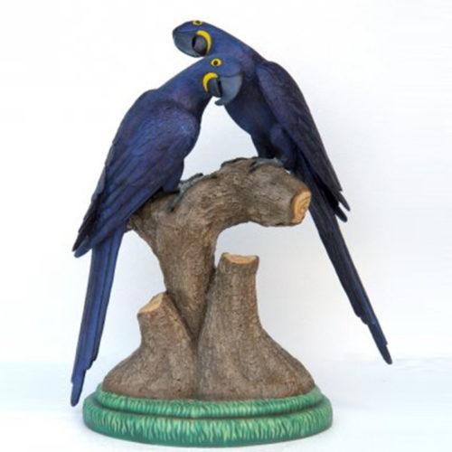Ara-bleu perroquet resine nlc deco déco animaux