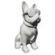 Bouledogue-assis-PM-cravate chien en résine plastique nlcdeco