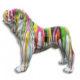 Bouledogue-debout chien en résine nlcdeco decoration plastique animaux