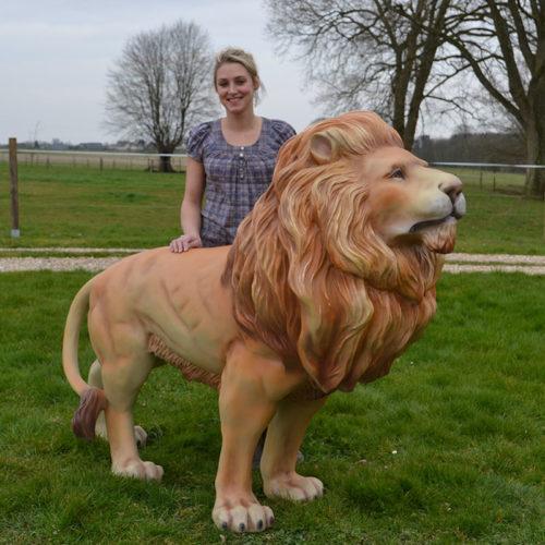 Lion animaux sauvage en résine nlcdéco deco