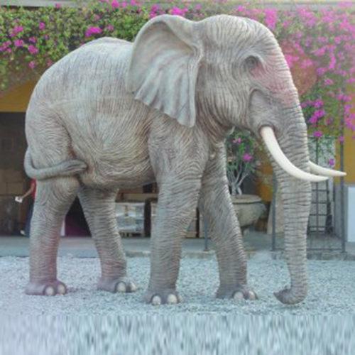 Eléphant-trompe-en-bas animaux en résine nlcdeco déco