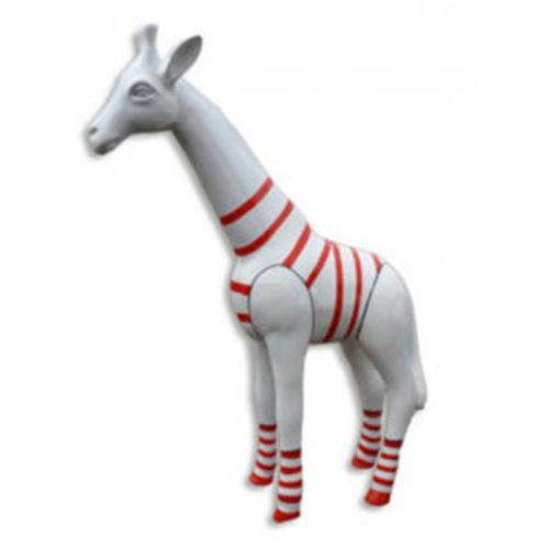 Girafe-M-blanche-marinière-rouge nlcdeco