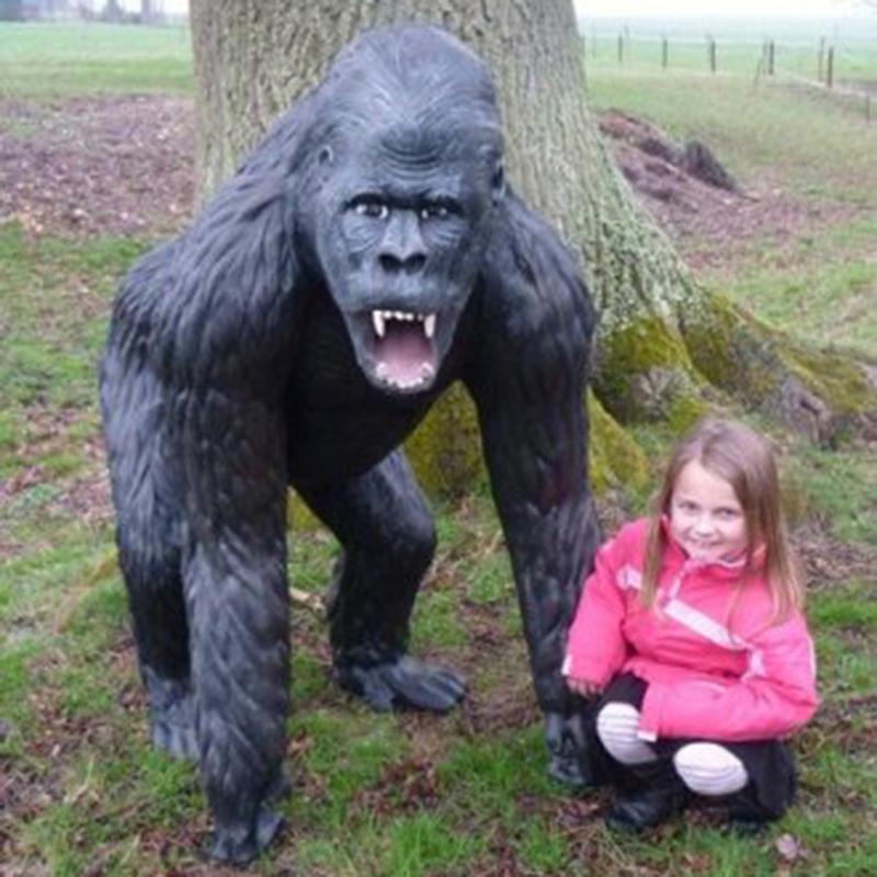 Gorille animaux en résine nlcdéco deco