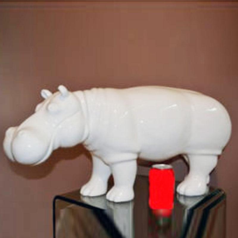 Hippopotame-blanc-en-résine-nlcdeco