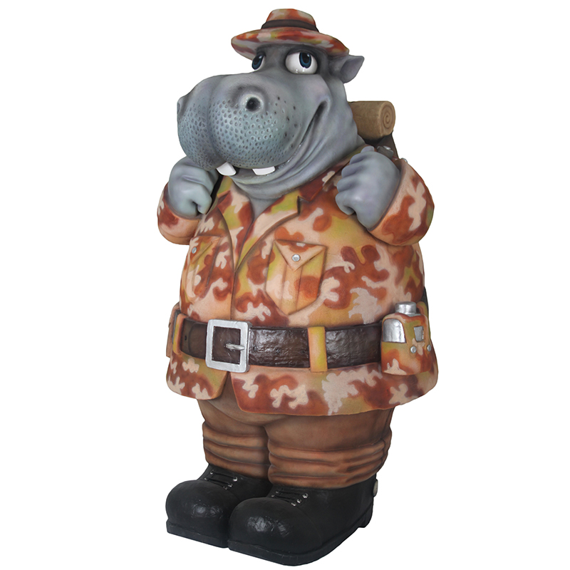 Hippopotame explorateur