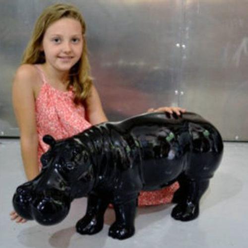Hippopotame-noir-en-résine-nlcdeco