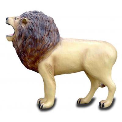 Lion grandeur nature resine