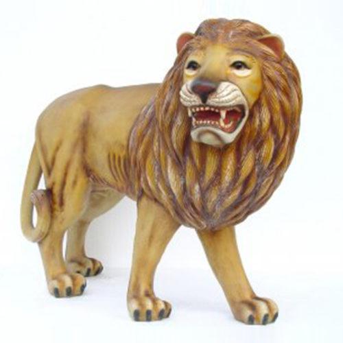 Lion-tête-à-droite debout lion sauvage en résine animaux nlcdeco déco