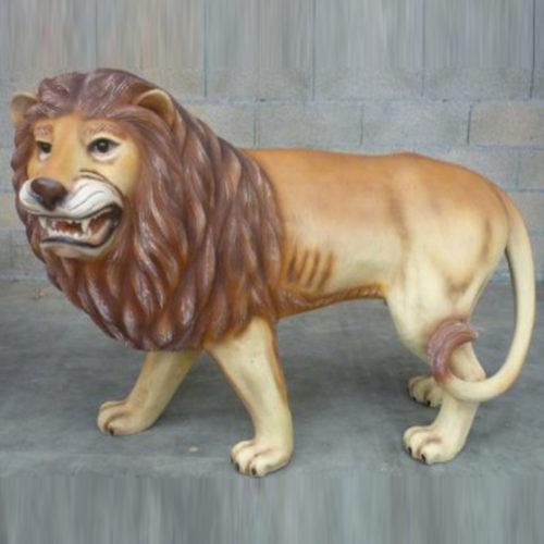 Lion-tête-à-gauche Lion-tête-à-droite debout lion sauvage en résine animaux nlcdeco déco