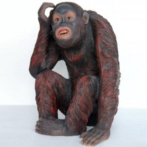 Orang-outang-assis animaux en résine singe nlcdeco déco