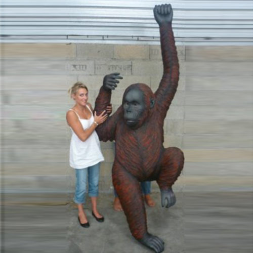 Orang-outang-suspendu animaux sauvage snge en résine nlcdeco déco
