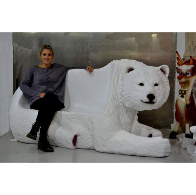 Ours blanc banc