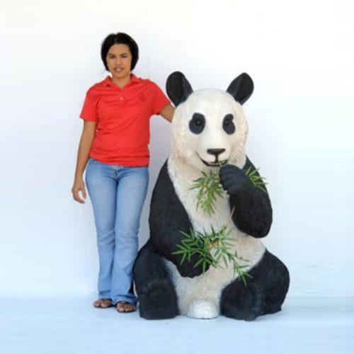 Panda-assis animaux en résine panda nlcdeco déco