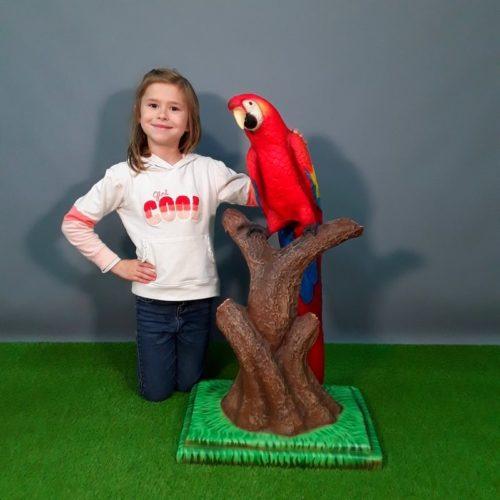 Perroquet rouge nlcdeco