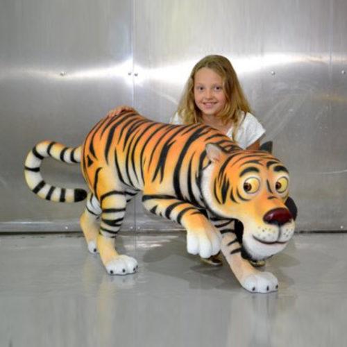Tigre-Humoristique animaux en résine nlcdéco deco