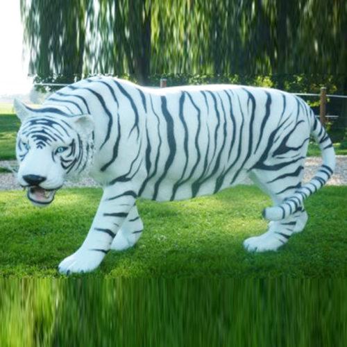Tigre-blanc animaux en résine nlcdeco déco