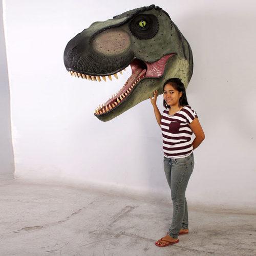 Trophée t-rex géant dinosaure jurassic nlcdeco