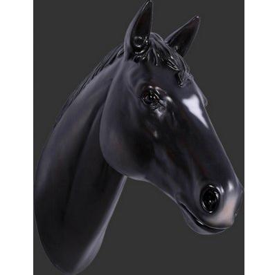 Trophée Cheval noir résine