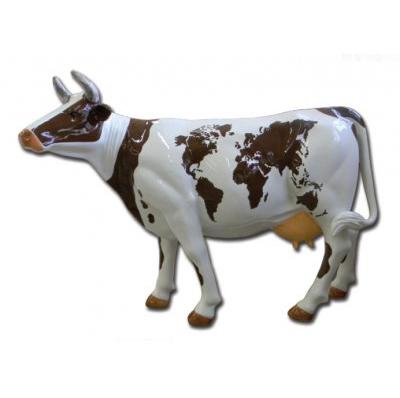 Vache planisphère brune