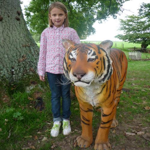 animaux de la jungle en resine tigre