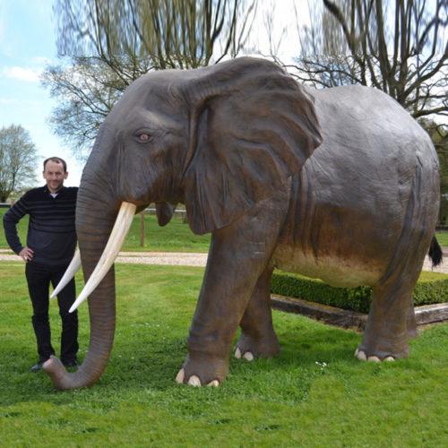 animaux resine grandeur nature elephant
