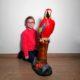 décoration résine perroquet rouge nlcdeco