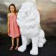 lion design decor evenementiel jungle exotique lion assise blanche en resine nlcdeco animaux personnage décor en résine nlcdeco