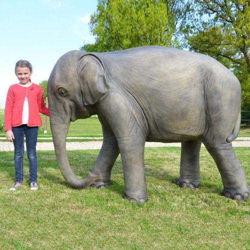Éléphant-résine animaux en résine nlc déco deco elephant