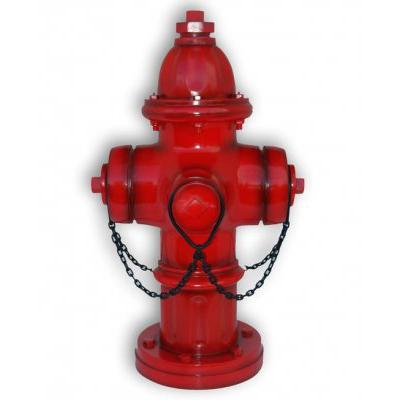 Bouche d'incendie rouge