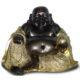 Bouddha assis noir or