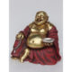 Bouddha assis rouge et or