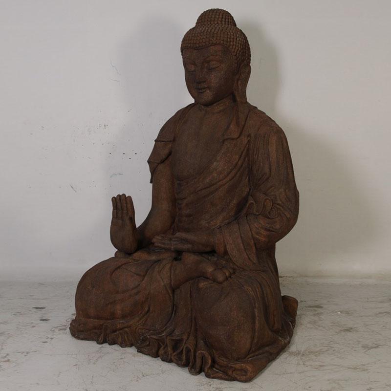 Bouddha géant pierre roche NLC DECO.